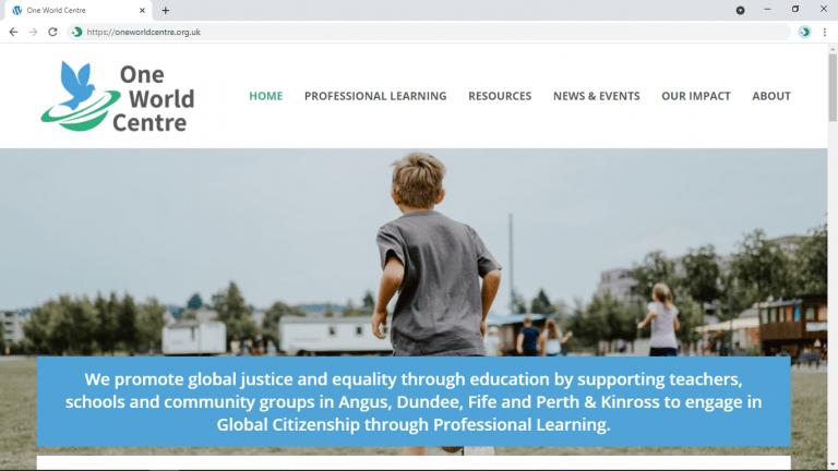 Screenshot of owc's new website homepage